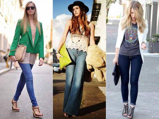 modelos usam 3 looks diferentes com carteira feminina.