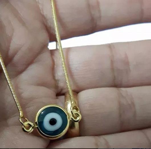 colar olho grego barato