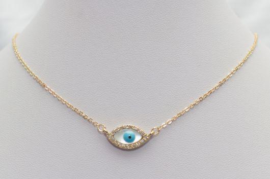 86b015461b3ce colar olho grego com pingente e colar de ouro