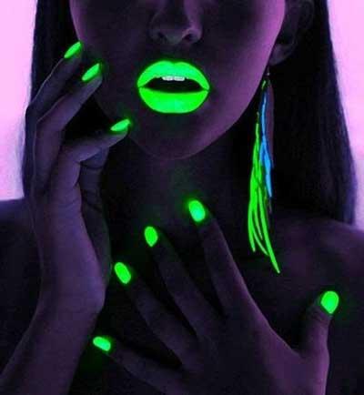 esmalte neon verde limão