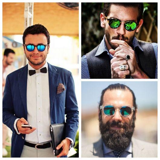 Deixe seu look mais descolado e elegante com o óculos espelhado masculino