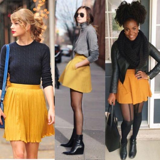 Looks com Saia Amarela: Modelos, Tons e Dicas para Usar com Fotos