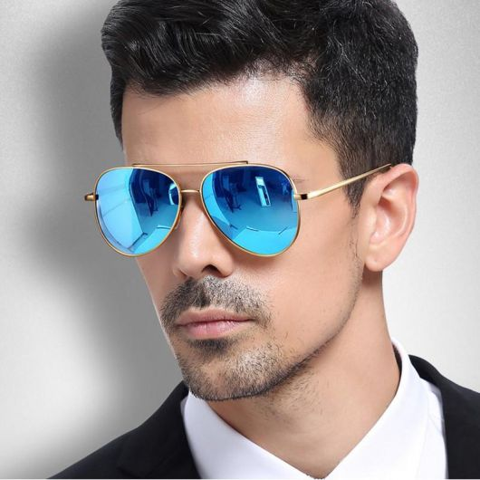 7e0aa6ec4 Óculos Espelhado Masculino – Como Usar & 70 Modelos Cheios de Estilo!