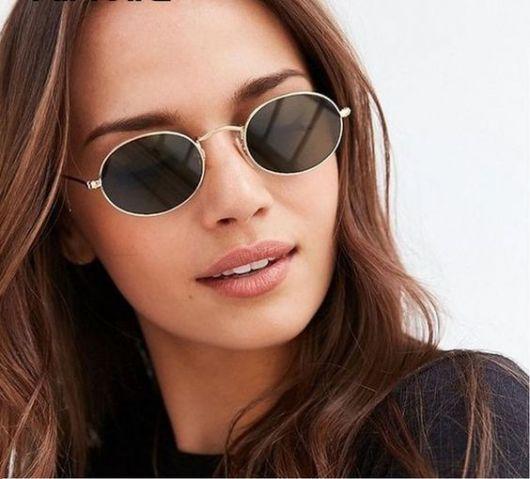 óculos de sol oval