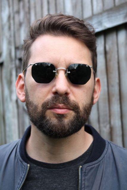 óculos geométrico masculino