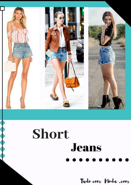 Looks com Short Jeans – Como Arrasar com os 70 Modelos Mais Lindos!