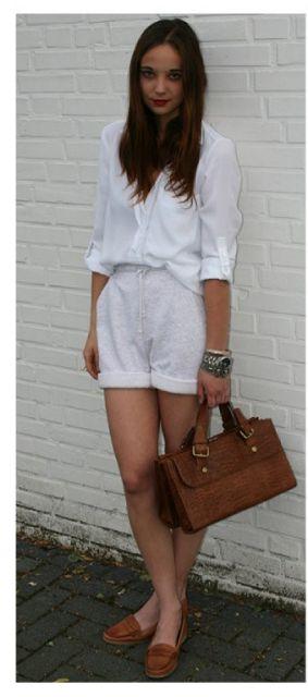 look com camisa branca