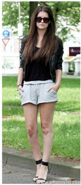 look com shorts cinza