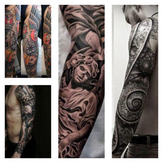 80 modelos irados de tatuagem no braço fechado masculino