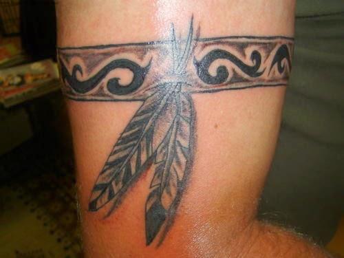 Inspiração tribal com penas