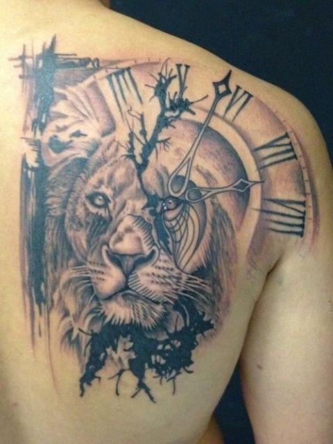 Leão + relógio
