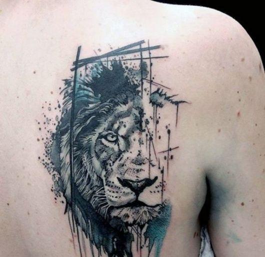Leão sombreado