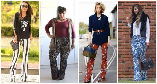 Calça Flare Estampada – Como Combinar com 46 Looks Espetaculares!