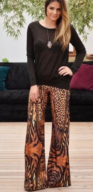 look calça animal print