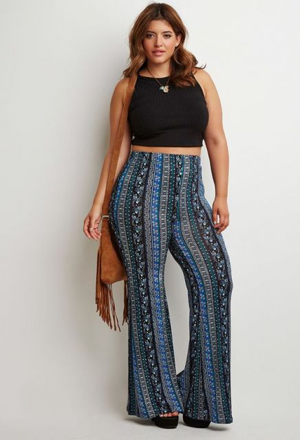 look plus size com cropped