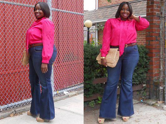look calça jeans com camisa