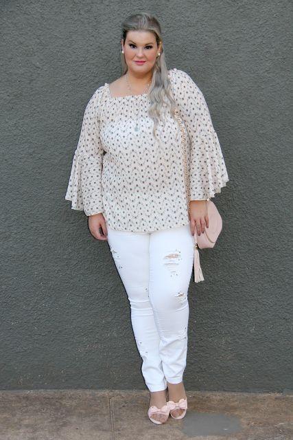 look calça branca com bata
