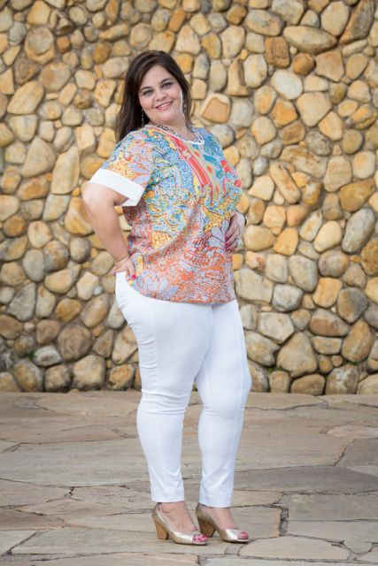 look com calça skinny branca