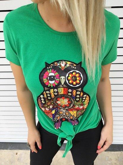 Camiseta Bordada coruja personalizada