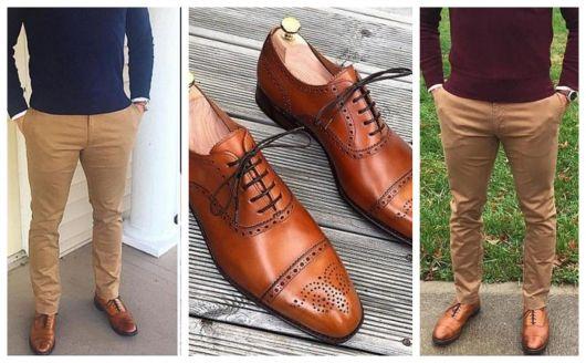 Algumas versões do clássico sapato Oxford masculino