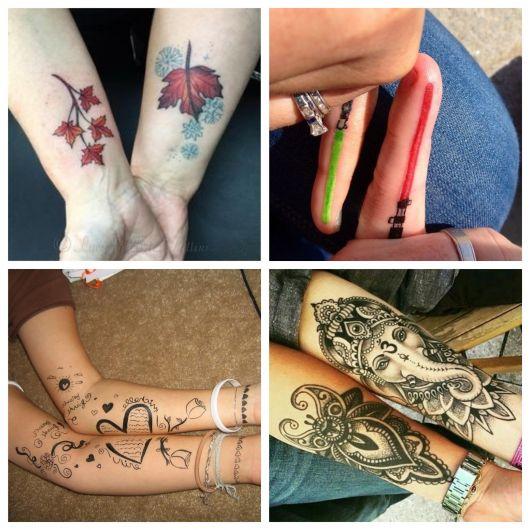 As tatuagens para casal podem seguir linhas infinitas e conceituais