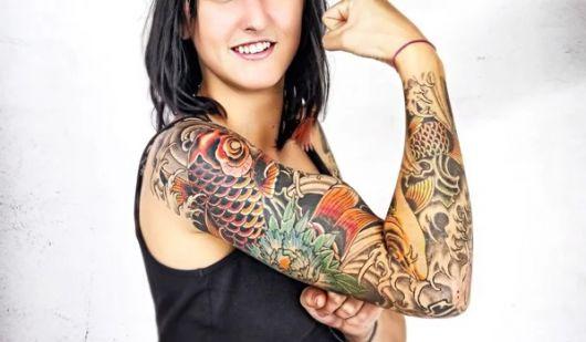 tatuagem braço fechado feminino estampas