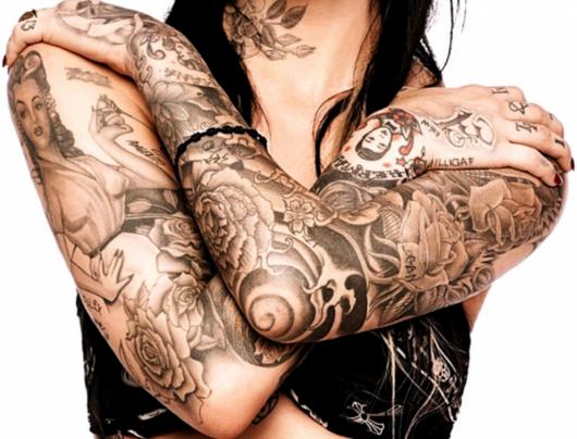 tatuagem braço fechado feminino ideias