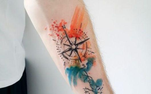 tatuagem aquarela feminina