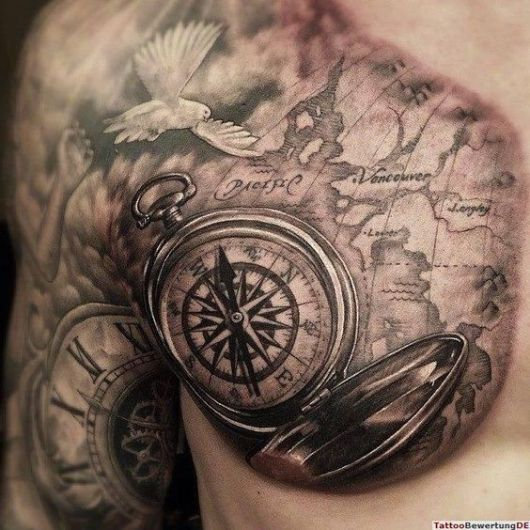 tatuagem sombreada masculina