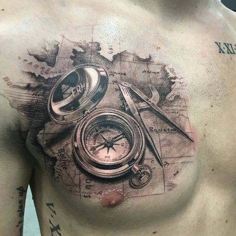 tatuagem masculino peito