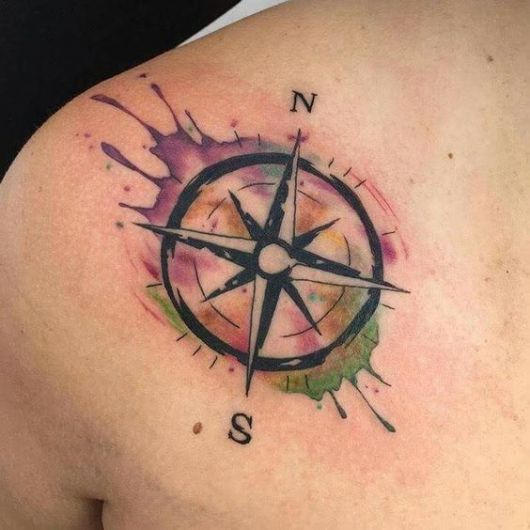 tatuagem masculina aquarela
