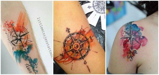 ideias para tatuagem aquarela