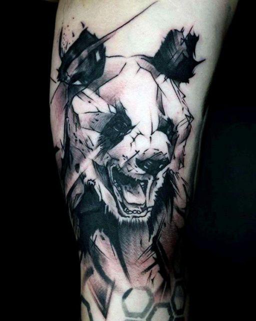 ideias de tatuagem de panda