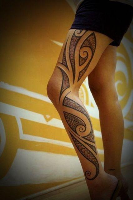 tatuagem na perna