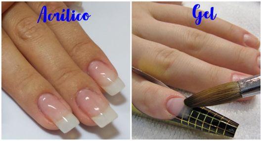 diferença unhas de acrílico e gel