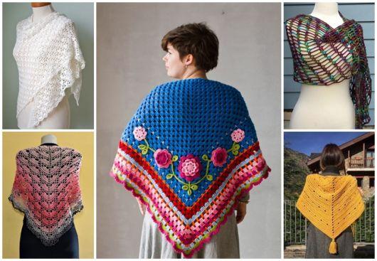 Xale de Crochê – 57 Modelos Maravilhosos & Como Fazer Passo a Passo!