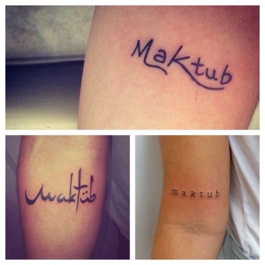 As fontes são diversas e exaltam toda a originalidade de sua tatuagem