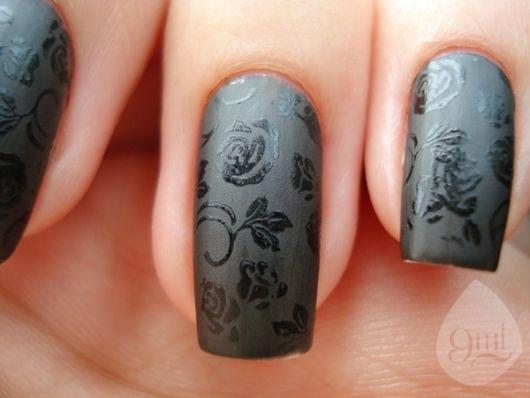 nail art esmalte fosco