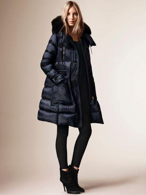look com jaqueta longa preta