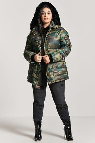 jaqueta camuflada feminina