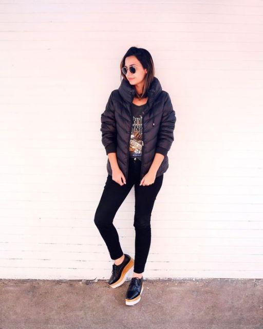 look com jaqueta preta