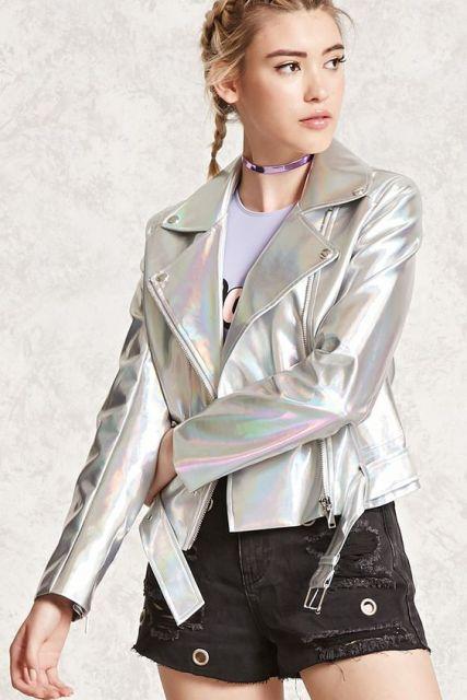 look com jaqueta prata