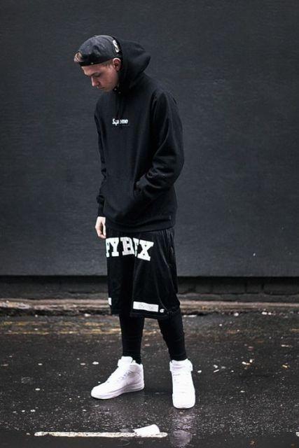 Look surpreendente que combina perfeitamente o preto com o branco
