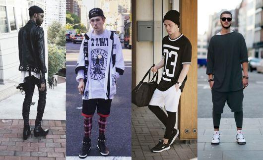 Legging masculina em estilos alternativos, do street ao rocker, entre muitos outros