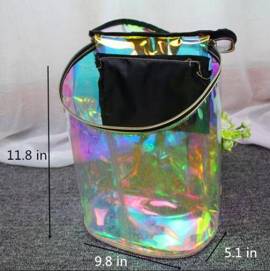 mochila holográfica moderna