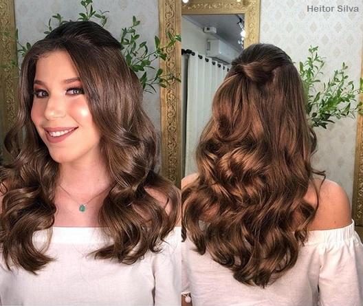 penteado semi-preso moderno