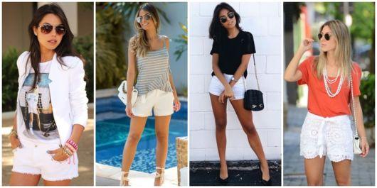 Como Usar Short Branco – 71 Dicas de Looks Incríveis para Você Usar!