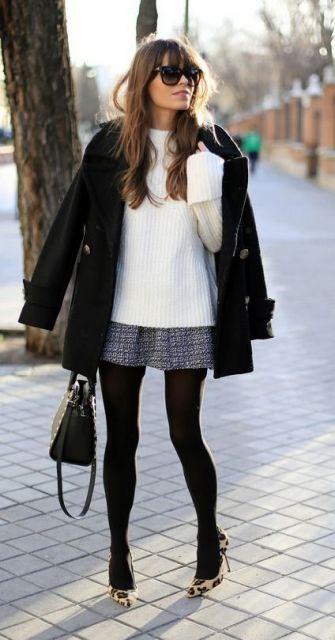 look com suéter branco
