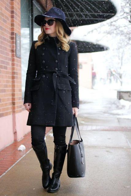 look de inverno com chapéu