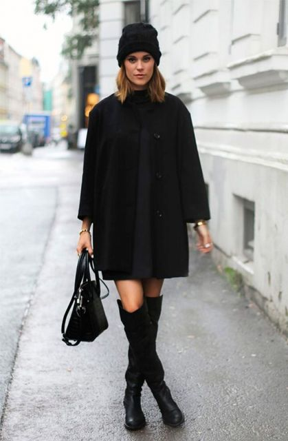 look de inverno com bota